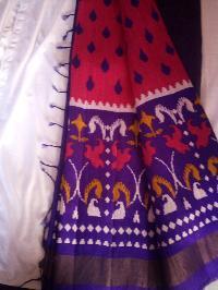 Ikat Printed Silk Sarees