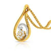 Upscale Love Diamond Gold Pendant