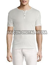 Mens Henley Neck T-Shirts