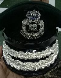 Embroidery police cap