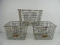 storage wire plain baskets
