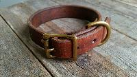 Leather Dog Collar Belt