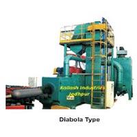 Diabola Type Lpg Cylinder Shot Blasting Machine