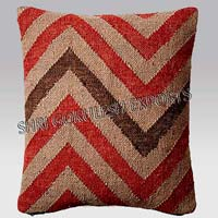 Jute Wool Kilim Pillow Cover