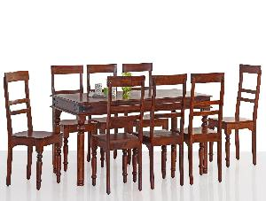 Sheesham Wood Eight Seater Dining Table Set (RHP-DINING-012)