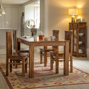 Sheesham Wood Four Seater Dining Table Set (RHP-DINING-003)