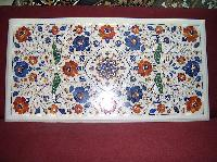 Marble Inlay Center Table Top