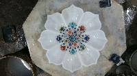 Marble Inlay Flower Shaped Bowls
