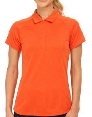 Ladies Plain Half Sleeve Polo T-shirts