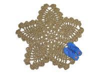 Flower & Star Shaped Jute Rug