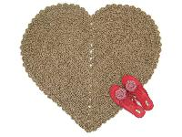 Heart Shaped Jute Rug