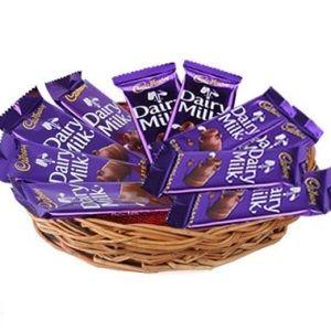 Dairy Milk Chocolate Gift Basket