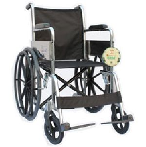 Folding Wheelchair In Chrome Finish With Mag Wheel