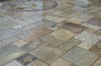 Lime Stone Slates Flooring