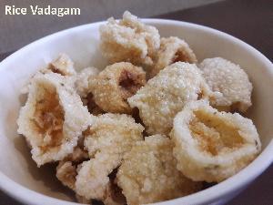 Rice Vadagam