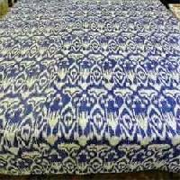 Blue Colored Ikat Bed Cover