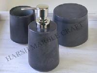 Gray Stone Bath Accessories