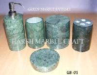 Green Marble Bath Accessories
