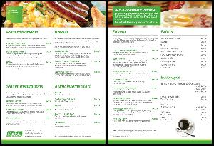 Restaurant Menu Design Services