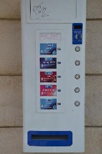 condoms vending machine