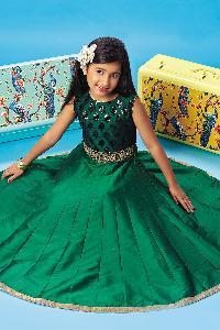 Silk Party Wear Kids Gown