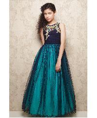 Blue Party Wear Kids Gown