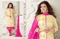 Designer Pink Chanderi Cotton Suit