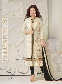 Women Designer Cream Cotton Suit