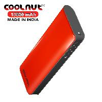 COOLNUT 10000mAh High Capacity Power Bank (Red)