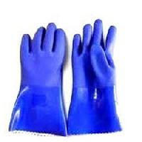 Pvc Supported Hand Glove