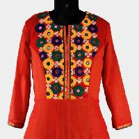 Kutch Work Cotton Kurtis
