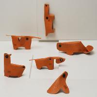 leather animal toys