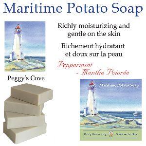 Maritime Peppermint Potato Soap