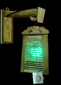 Bamboo LED Hanging Lamp