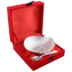 Silver Bowl W/spoon