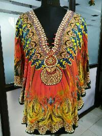 Pure Silk Animal Printed Kaftan