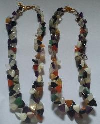 Agate Triangle shape beads necklaces