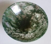 Green Moss Agate Stone Bowl