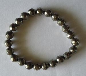 Pyrite Beads Bracelet