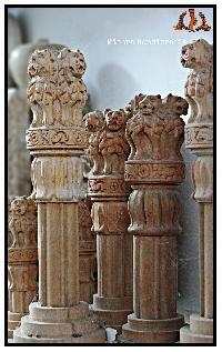Wooden Ashoka Pillars