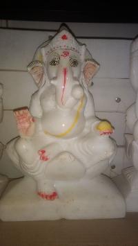 White Marble Ganpati Statue