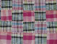 Indigo Check Fabric