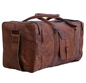 Square Duffel Travel, Sports Leather Bag