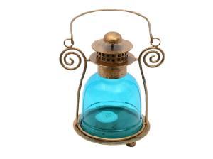 Blue & Brown Lantern