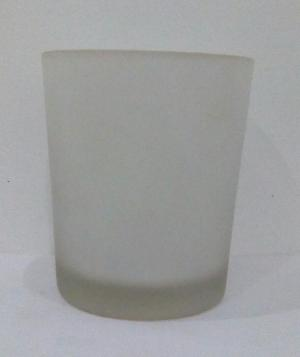 Frosted Glass Jar for Candles