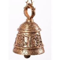 Antique Finish Handmade Solid Brass Chain Bell