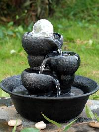 Durable Crystal Three Bowls Water Fountain