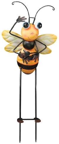 Honey Bee Garden Stake