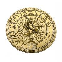 Traditional Design Brass Polished Garden Sundial