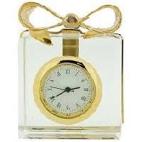 miniature gold plated clocks